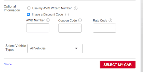 avis car rental promo code - how to use discount codes